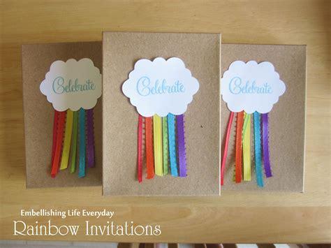 diy birthday invitation ideas embellishing rainbow invitation