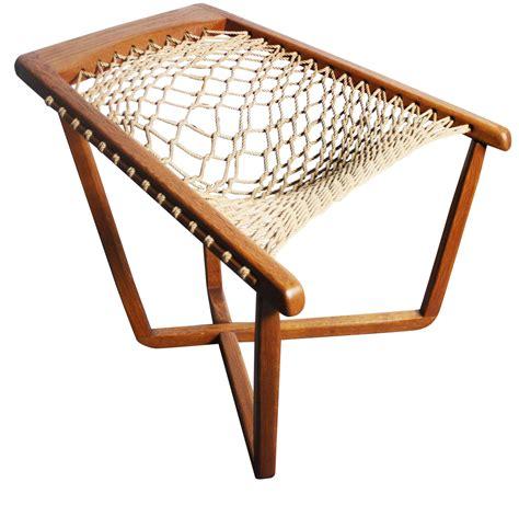 Rope Chair by Teak Cross Frame Mid Century Rope Chair Chairish