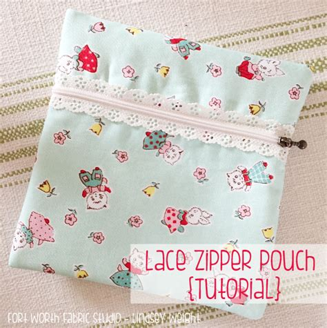 zippered fabric pouch pattern fort worth fabric studio exposed lace zipper pouch tutorial