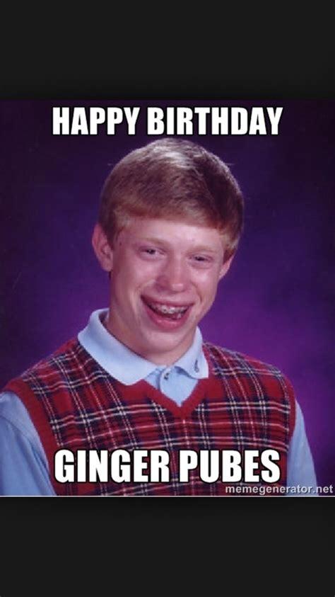 Funny Ginger Memes - ginger bday birthday meme pinterest