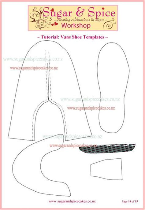 shoe template for fondant cake toppers 2 vans shoe cake topper tutorial by