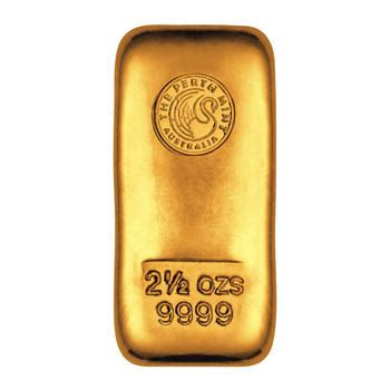 perth mint gold cast bar 2.5 oz