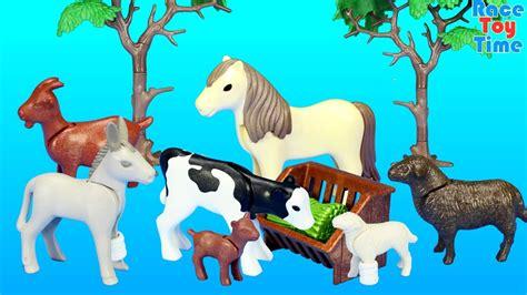playmobil farm animals nursery building set toy build