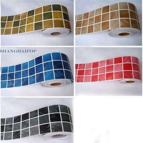 Wallpaper Sticker Roll 45cm X 10m 23 self adhesive border sticker wallpaper mosaic tile vinyl