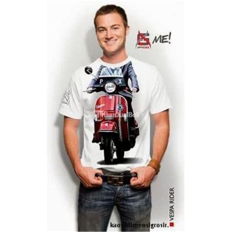 Kaos Baju Oblong Vespa kaos oblong 3 dimensi me pria warna putih harga murah
