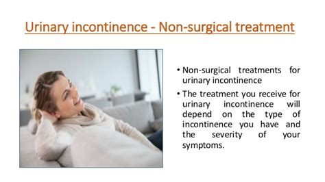 urinary incontinence remedies urinary incontinence non surgical treatment