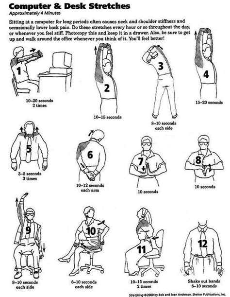 Desk Stretches For Neck And Shoulders by Neck Shoulder Stiffness And Back Aches Are A Common