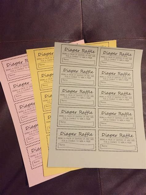 printable bridal shower raffle tickets free printable diaper raffle tickets for free insert into baby