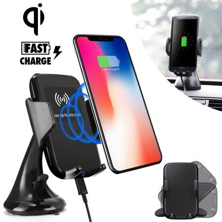 Samsung Galaxy S10 Qi Charger by Fast Qi Wireless Car Charger Mount Charging Car Dashboard Windshield Phone Holder For