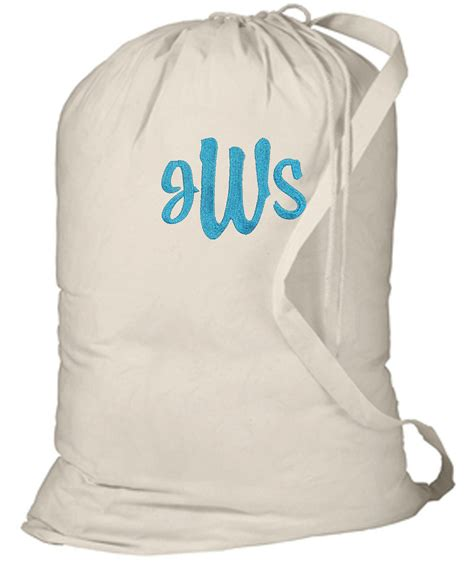 Personalized Dorm College C Laundry Bag Natural Personalized Laundry