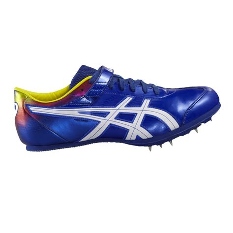 athletic spikes shoes asics jump pro unisex blue running sports shoes