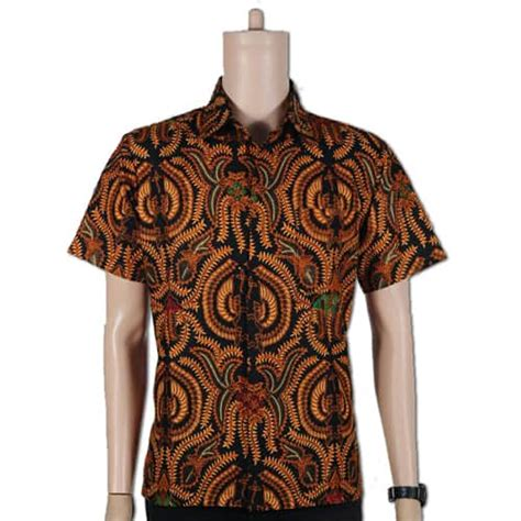 Batik Batu Raden Lengan Pendekk baju batik lengan pendek pusaka dunia