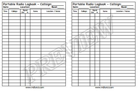 printable log book pages printable amateur radio logbooks m0ukd amateur radio blog