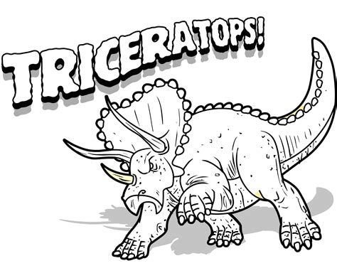 dinosaur coloring sheets free printable triceratops coloring pages for