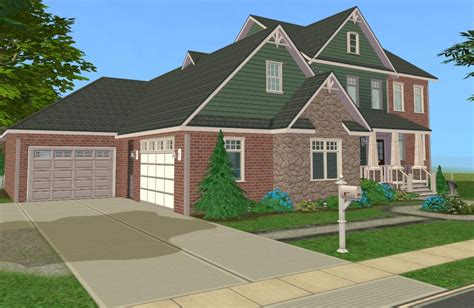 4 family homes mod the sims 4 bedroom craftsman style family home