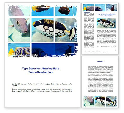 collage templates for word tropical fish collage word template poweredtemplate
