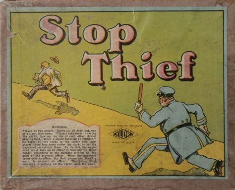 1920 s old card game of stop thief all about fun and games - Good Old Games Gift Card