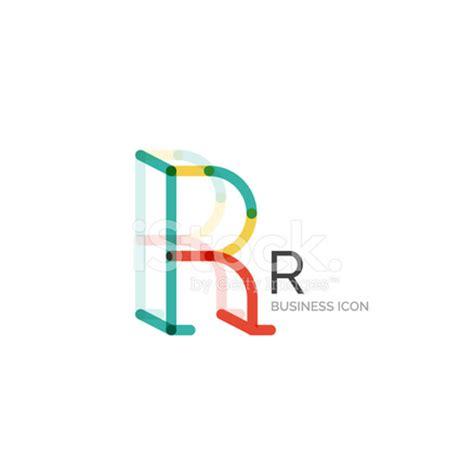 minimal r font or letter logo design stock vector