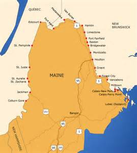 maine and canada map maine border map tbwg