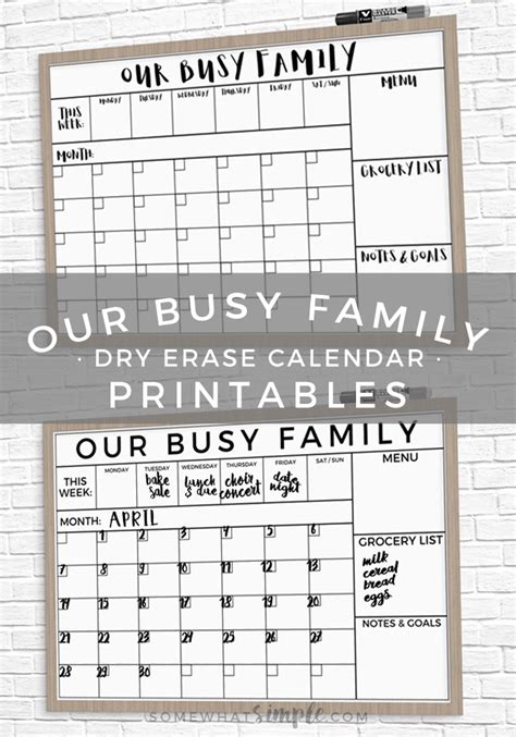 vinyl calendar template erase family calendar printable easy tutorial