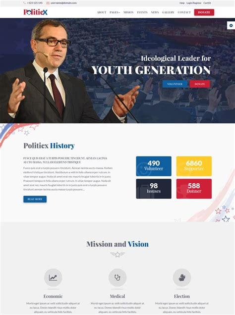 Election Website Templates Free 40 Best Political Website Templates 2018 Freshdesignweb