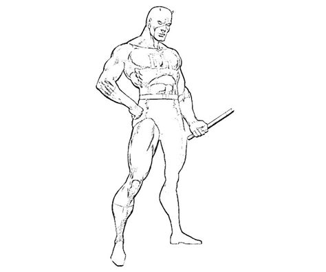 free coloring pages of marvel daredevil