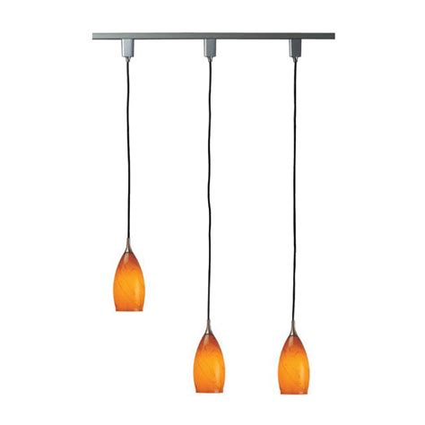 Shop Royal Pacific 3 Light 48 In Amber Glass Shades And Pendant Rail Lighting