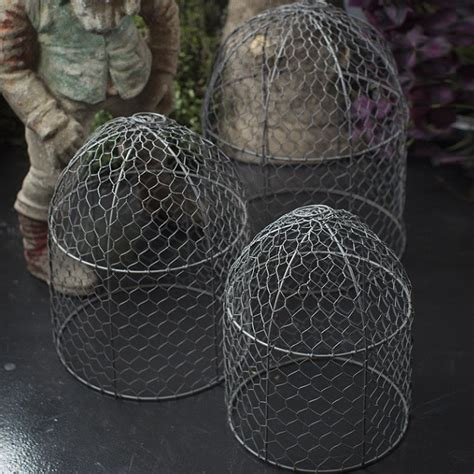 Wire Cloche   Chicken Wire Cloches Antique Farmhouse