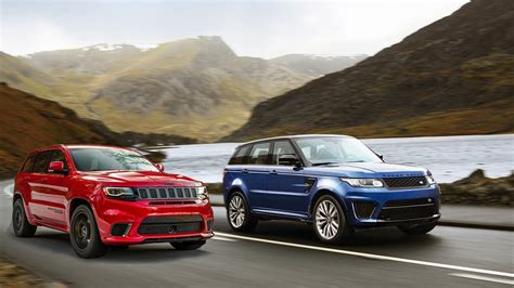 jeep range rover 2016 2016 range rover sport svr vs 2018 jeep grand