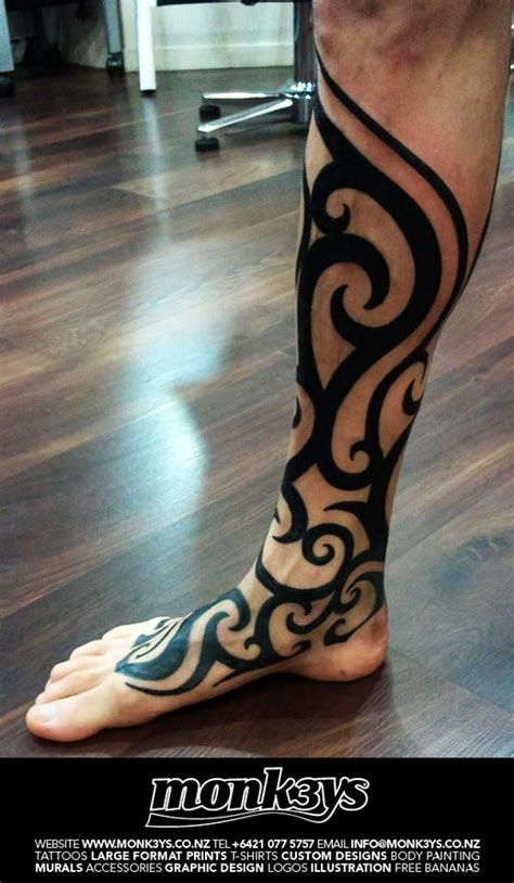 polynesian tribal leg tattoo designs leg tattoos and designs page 77