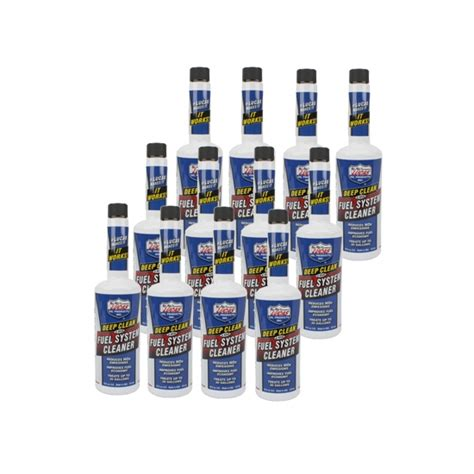 lucas  deep clean fuel additive case   bottles