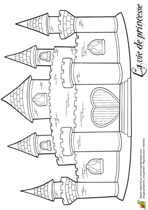 Coloriage204: coloriage chateau princesse