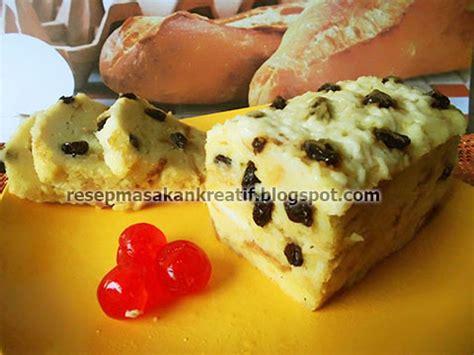 resep puding roti tawar kukus keju kismis aneka resep