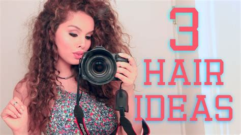 3 easy hairstyles for school on youtube 3 easy hairstyles for curly hair youtube