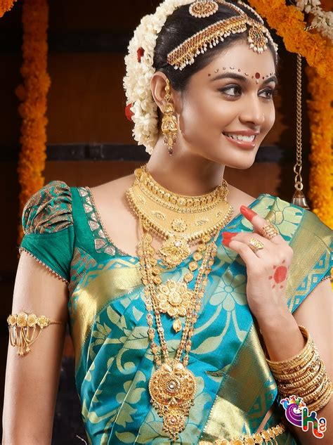 On Pinterest Saree Blouse South Indian Bride And Bridal Sarees   south indian bride with silk saree and jewallary beauty