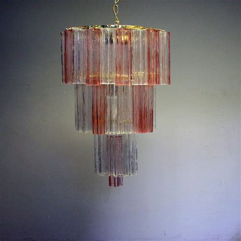pink murano glass l pink clear murano glass chandelier cubbit antiques