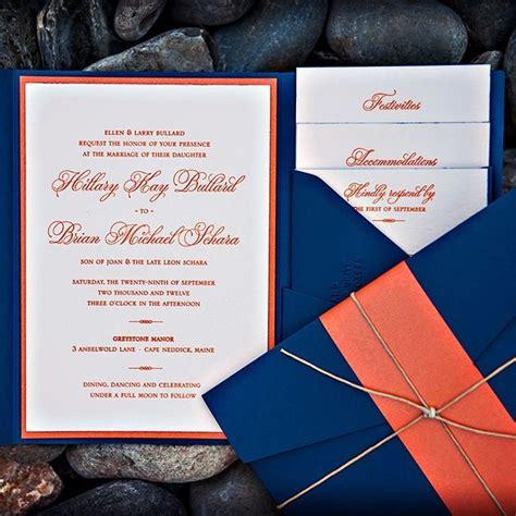 Orange And Wedding Invitations