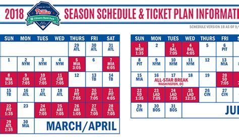 Phillies Printable Schedule