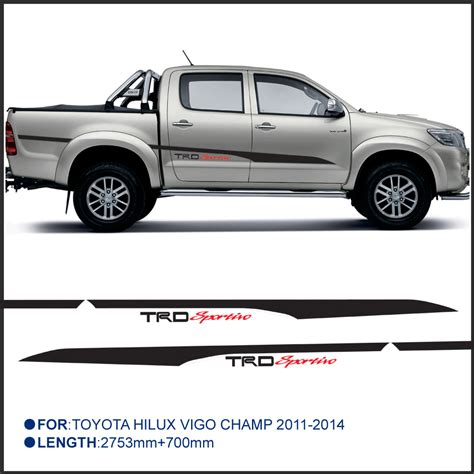 Toyota Hilux 4x4 Stickers 2 Pc Hilux Side Stripe Graphic Vinyl Sticker For Toyota