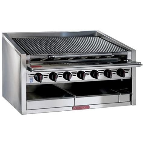 Commercial Kitchen Broiler by Magikitch N Cm 648 Rmb Gas Char Broiler Radiant 48