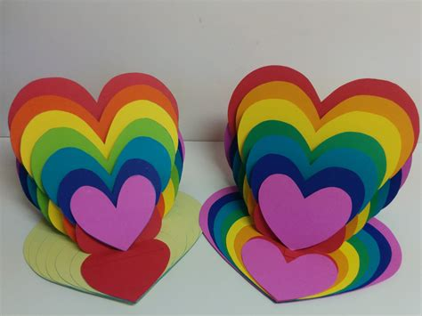 arts and crafts and craft how to make rainbow card easel