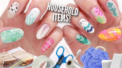 nail design tips home 10 nail art designs using household items the ultimate