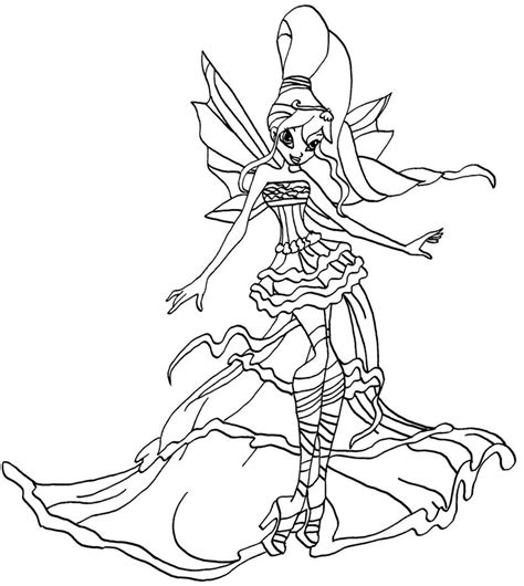 Winx Club Bloom Harmonix Coloring Pages bloom harmonix coloring pages