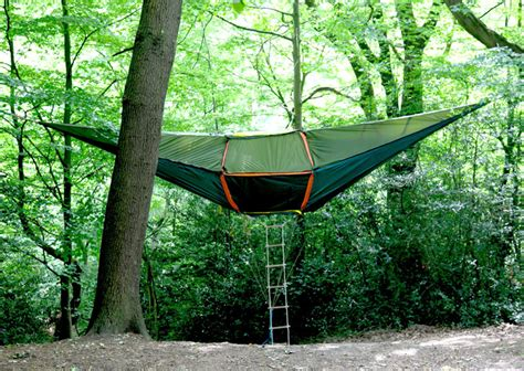 Hammock Tent Tentsile A Hammock Style Tent Suspended From Trees By