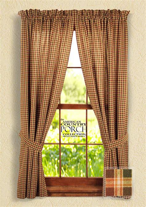 new england curtains new england plaid tieback curtain panels