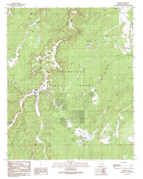 topographic maps arizona heber topographic map az usgs topo 34110d5