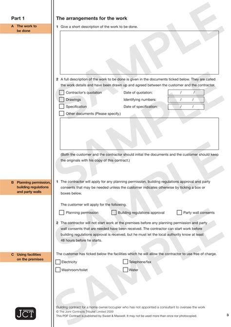standard building contract template jct homeowners contracts 226 162 sle contract