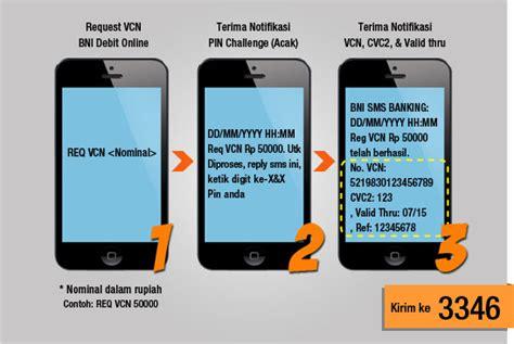 format penulisan perintah bni sms banking metode pembayaran bni debit online di bhinneka com
