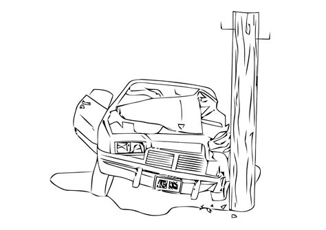 coloring page of car crash coloring page car crash img 11308