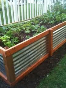 tin garden corrugated metal and wood raised garden bed raised beds